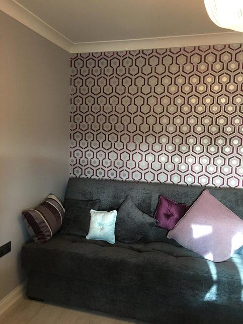 Hicks Hexagon Decorative Wall Stencil On Storenvy
