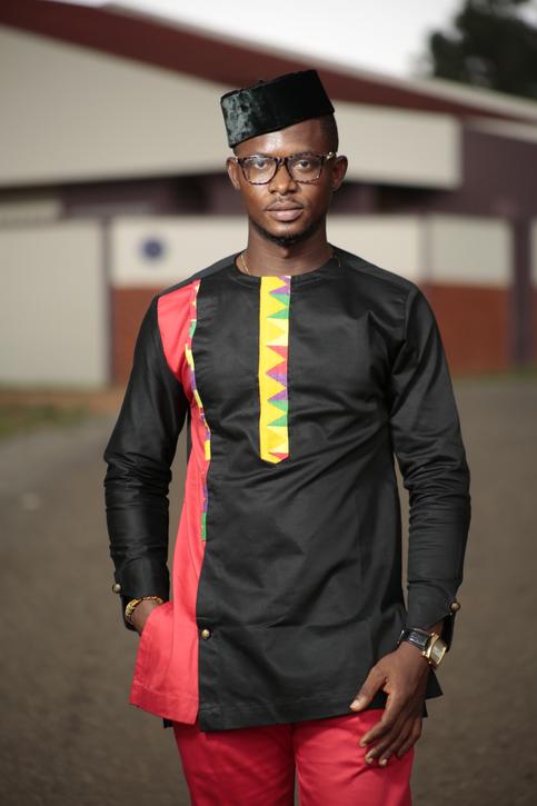 Kente Amp Black Cotton Men S African Clothing Men S Fashion African Men S Wear 183 Ramsjay Designs