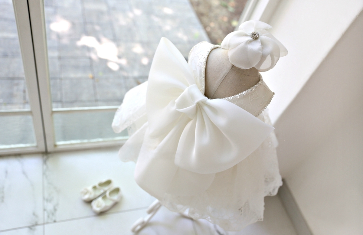 499caef646f3 Stunning Big Bow Back Flower Girl Dress (Made To Order) on Storenvy