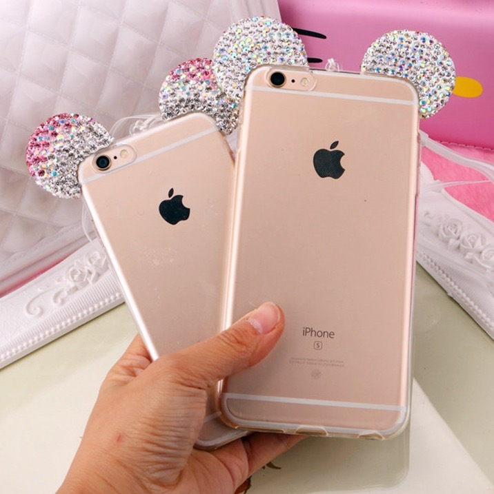 new style 78f57 7f980 Sparkly Mouse Ears Case