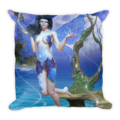 Water element square pillow