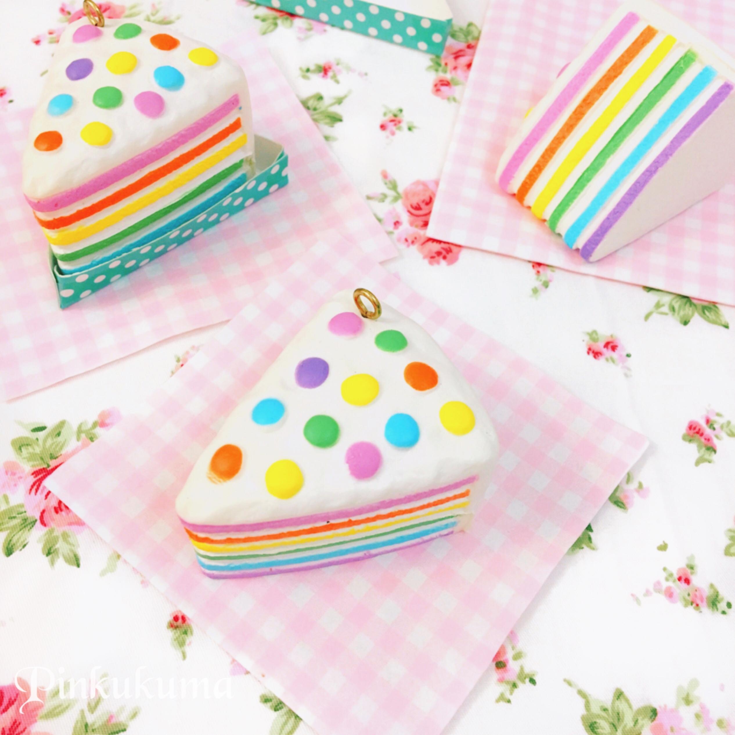 Chawa Mini Rainbow Cake squishy on Storenvy