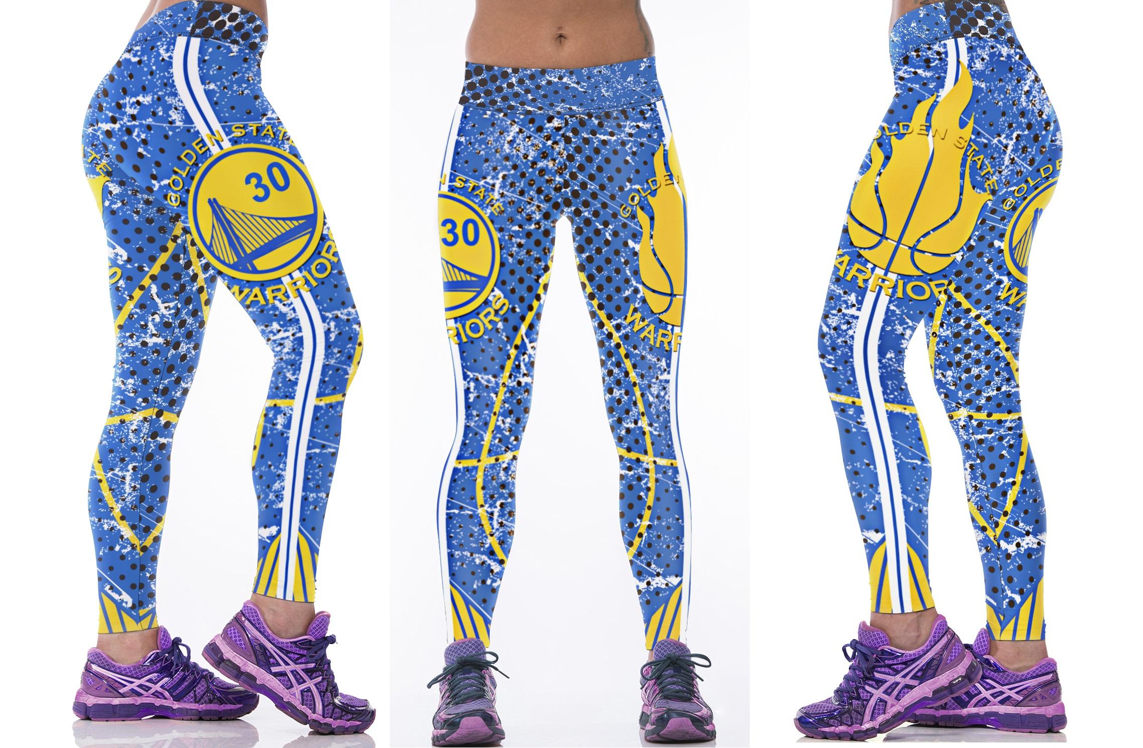 8f8a4bd3 New Golden State Warriors NBA Women Leggings Fitness Sports Gym ...