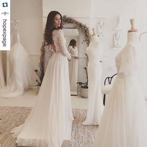 lace open back wedding dress