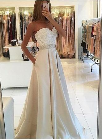 1fc04c18899 Sweetheart Ivory Prom Dress,Long Prom Dresses,Charming Prom Dresses,Evening  Dress,