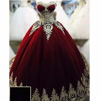 Charming Prom Dress Ball Gown Burgundy Prom Dress New Gorgeous ...
