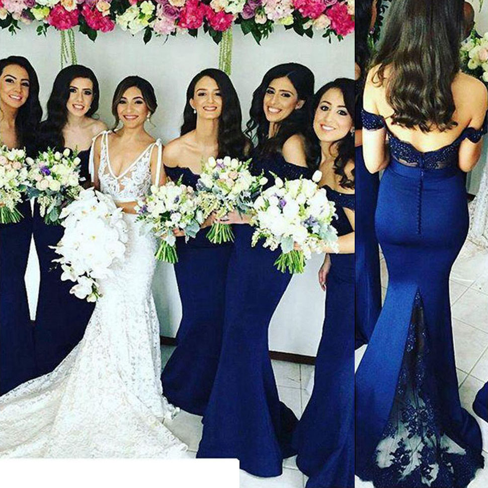 Off the shoulder lace bridesmaid dress with low back sexy mermaid  bridesmaid dress long bridesmaid dresses 411b8edebdbb
