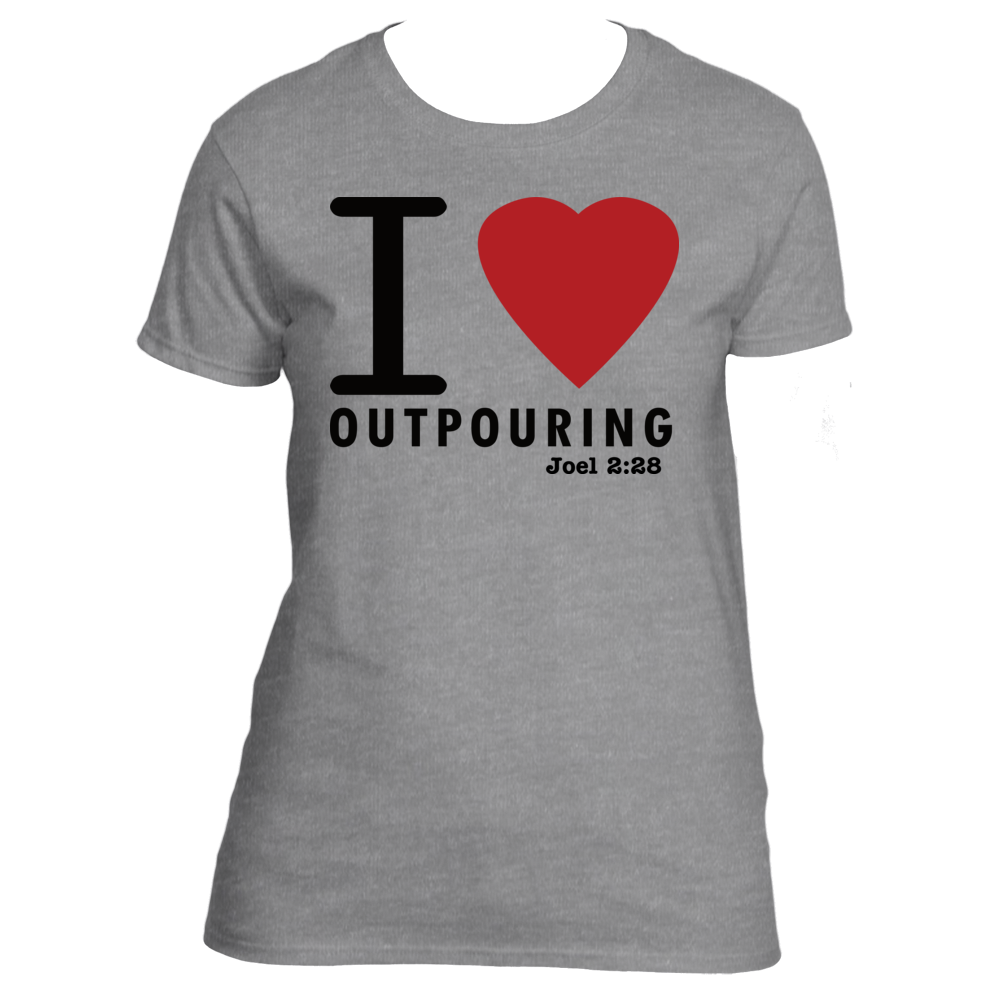 I Heart Outpouring Ladies Tee sold by Upward Apparel