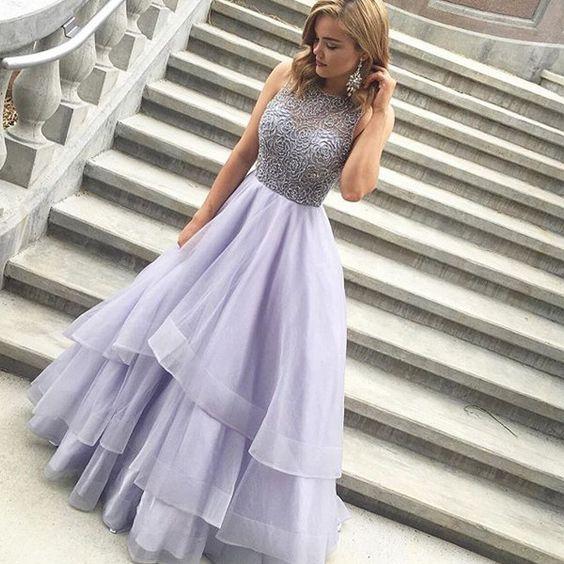 Light Purple Prom Dress,Unique Prom Dress,2017 Prom Dress,Cheap Prom ...