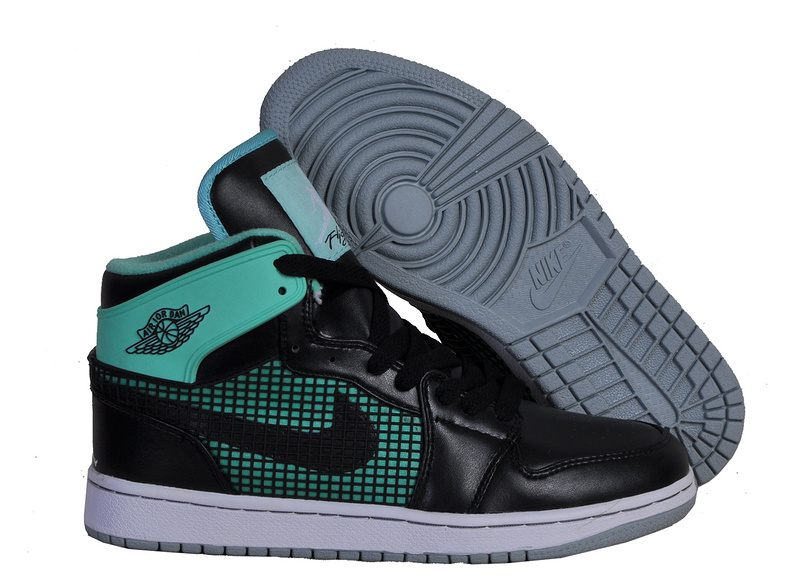 super popular 85760 b095a Nike Air Jordan 1 Mens 89 Leather Green Glow Black White CeMenst Grey