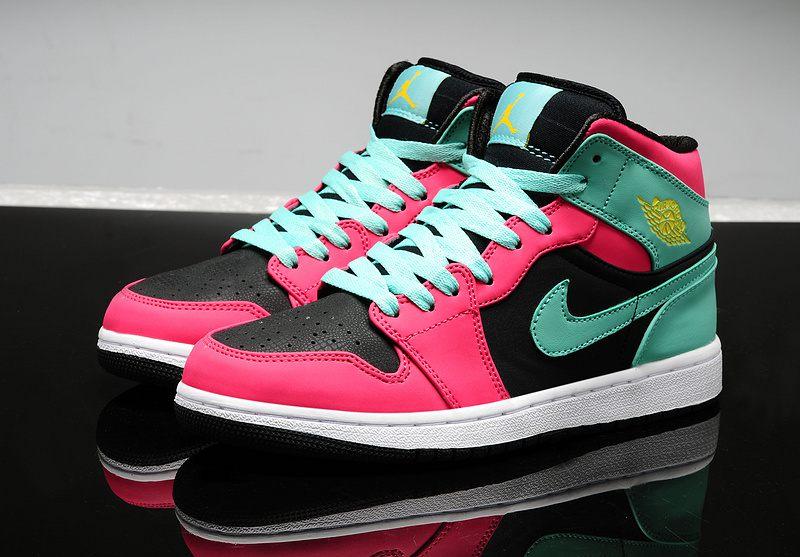 bcbd27f7d574a3 Nike Air Jordan 1 Womens 2014 Red Green Black · Sneakeronline ...