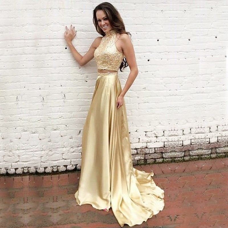 Gold Prom Dresses Formal Dresses Banquet Dresses Wedding Party