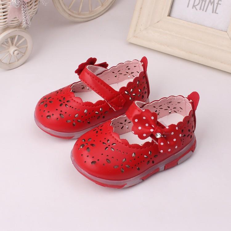 FREE SHIPPING Girls Pretty Bow Summer Dress Shoes Girls 5-9