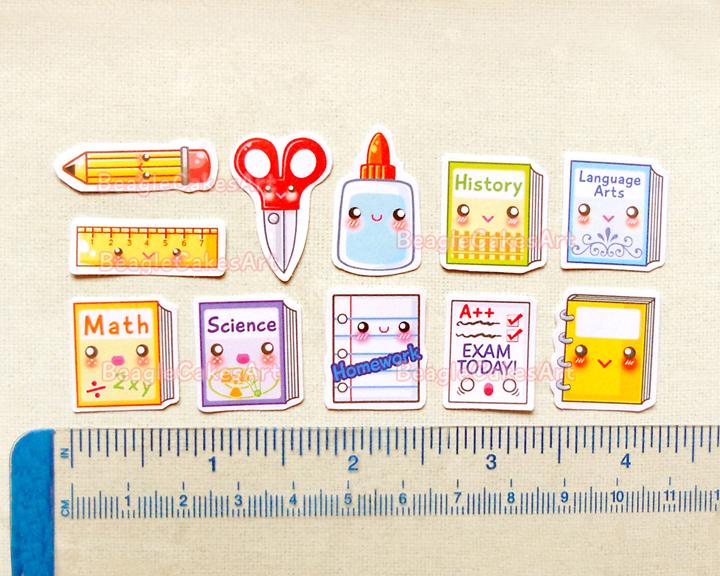 School Planner Stickers Cute Back To School Sticker Pack