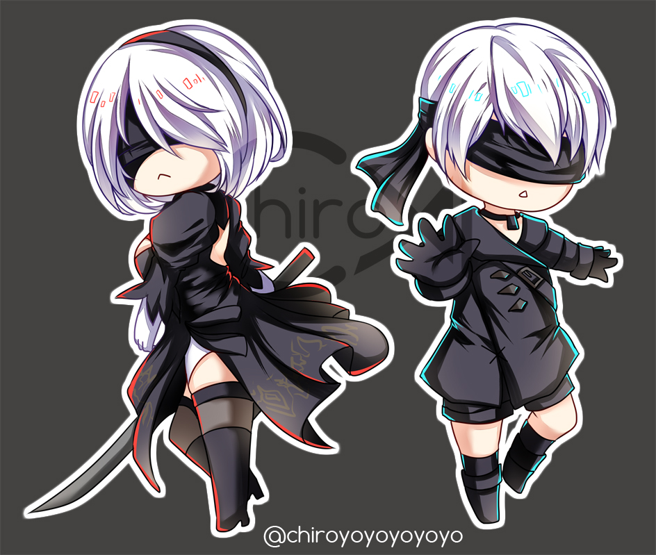 Nier Automata 1 5 Quot 2b Amp 9s Acrylic Charm On Storenvy
