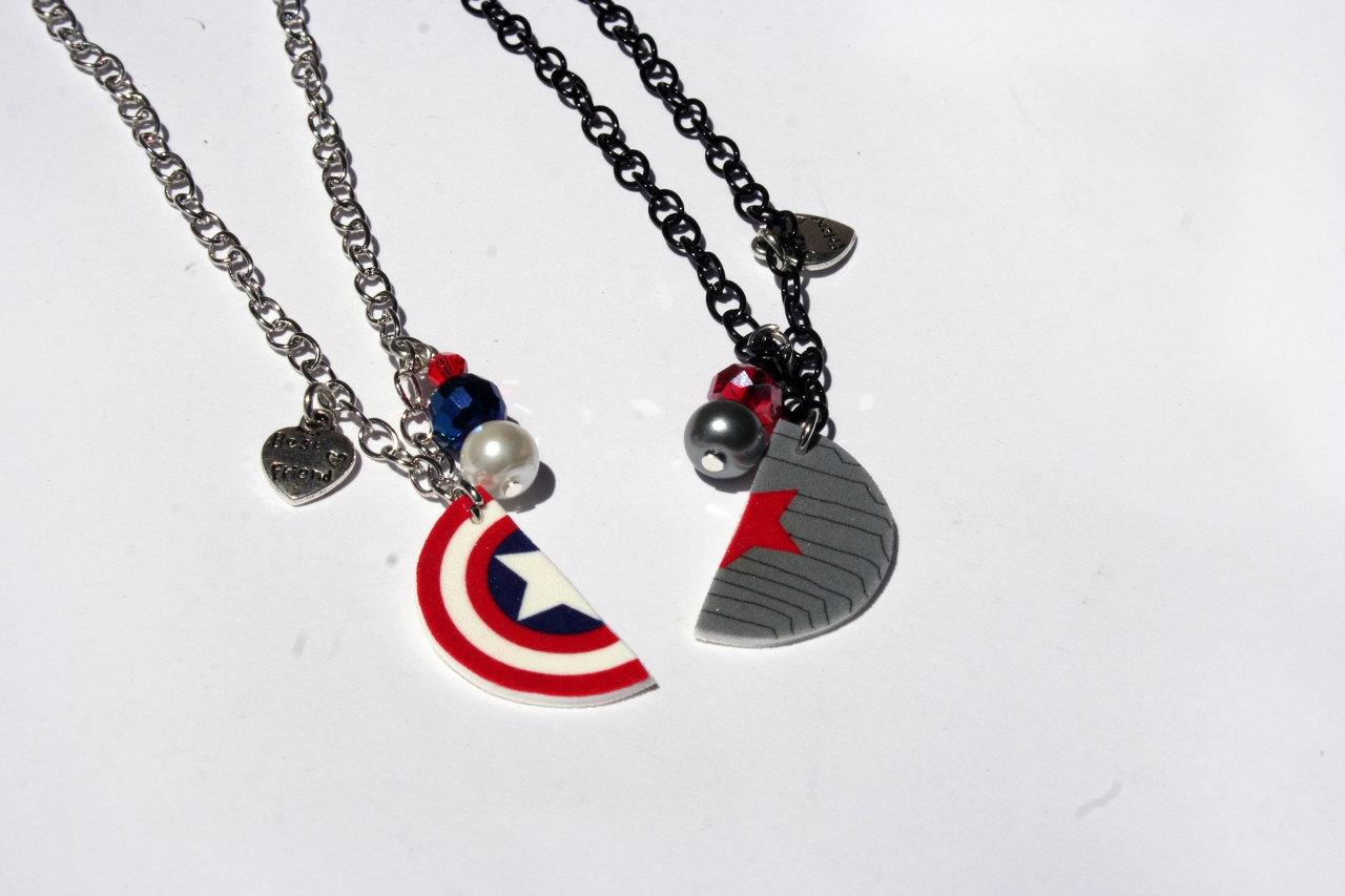 Winter Soldier Captain America Inspired Best Friend Necklaces On