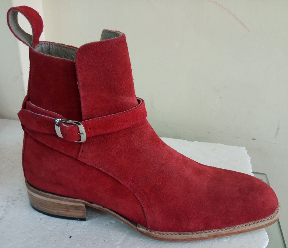 ee93e425a5f New 20handmade 20jodhpurs 20red 20suede 20boots 20party 20dress 20ankle  20boots 20leather 20sole 20men1 original