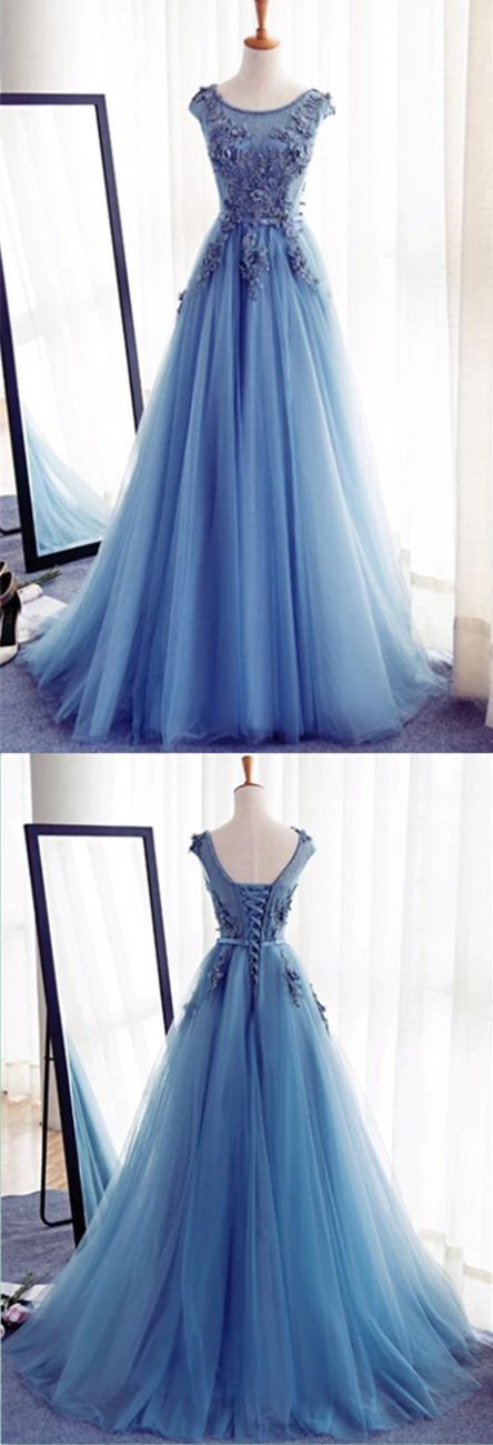 1ed90305da6 Charming Tulle Handmade Prom Dress