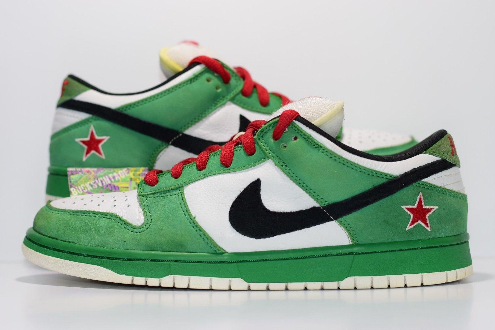 watch b9196 0cd63 Size 10.5   2003 Nike Dunk SB Low Heineken Premium Authentic Rare  304292-302 from BucksVintage