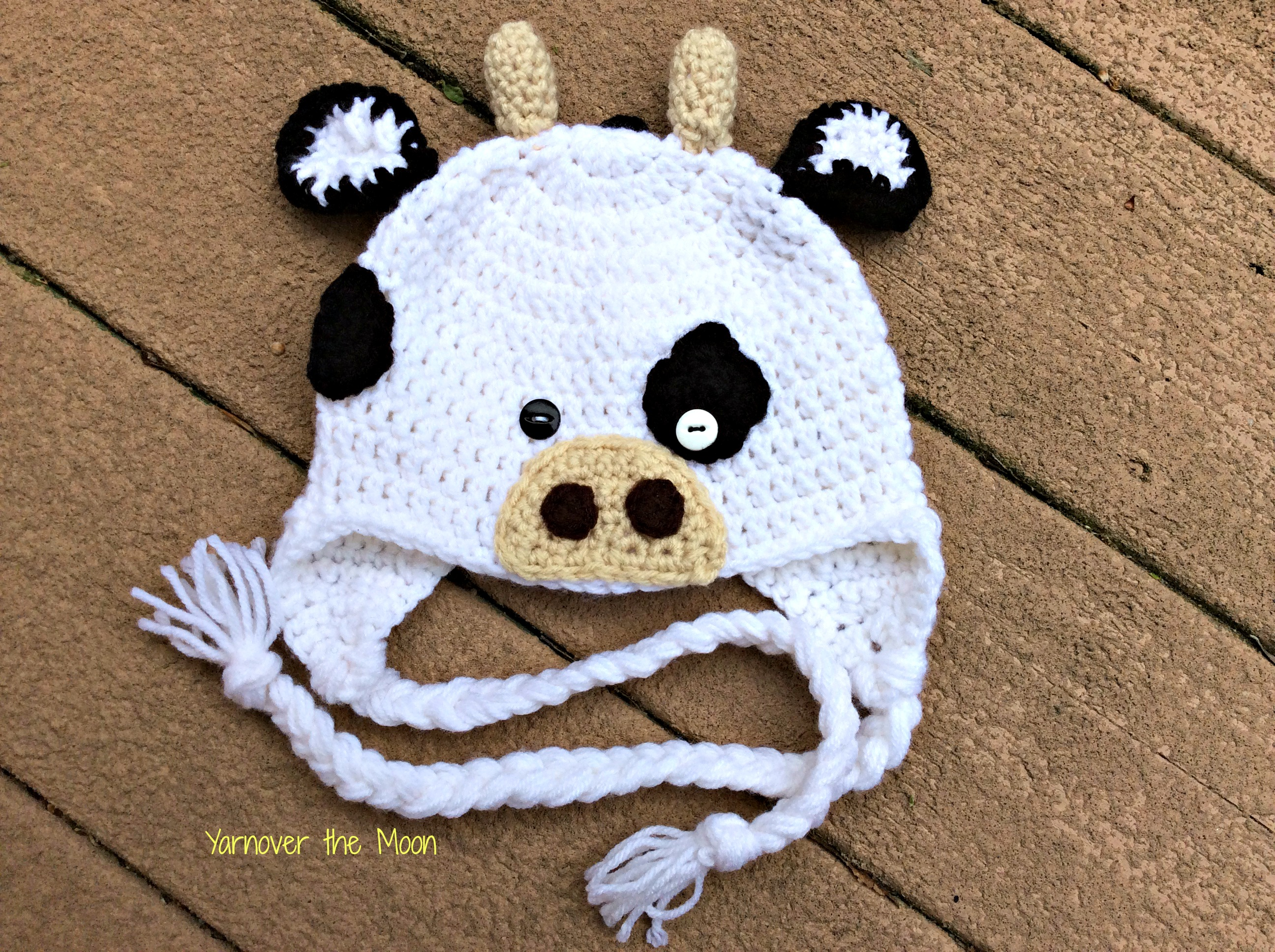 Crochet Cow Hat Yarnover The Moon Online Store Powered By Storenvy