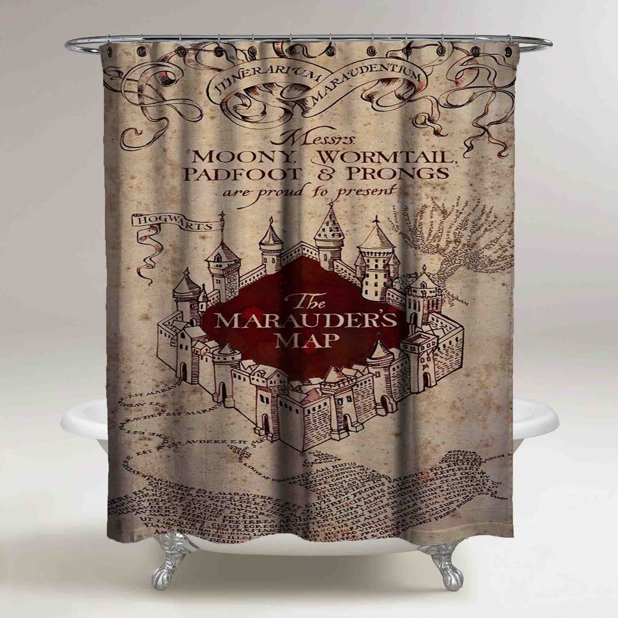 The Marauders Map Harry Potter Custom Shower Curtain Print On Sold By Ooreedoo