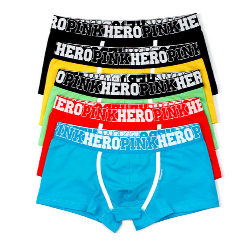 1b5cbba6957 5pk Sale- Pink Hero Solid Color Men s Underwear Gay Boxer Briefs ...