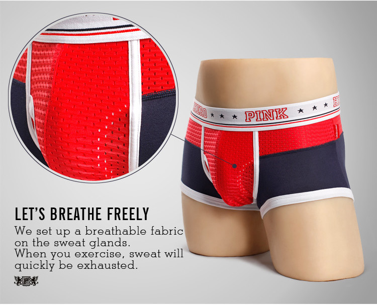 e3db2e70b4 ... 4pk Sale- Pink Hero Mesh breathable Gay Boxer Briefs Underwear -  Thumbnail 2