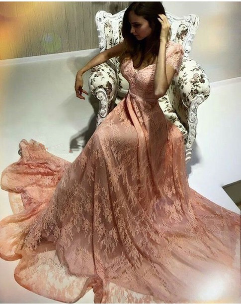 92613a5ad Prom Dresses,Pink Evening Gowns,Lace Formal Dresses,Prom Dresses,new ...