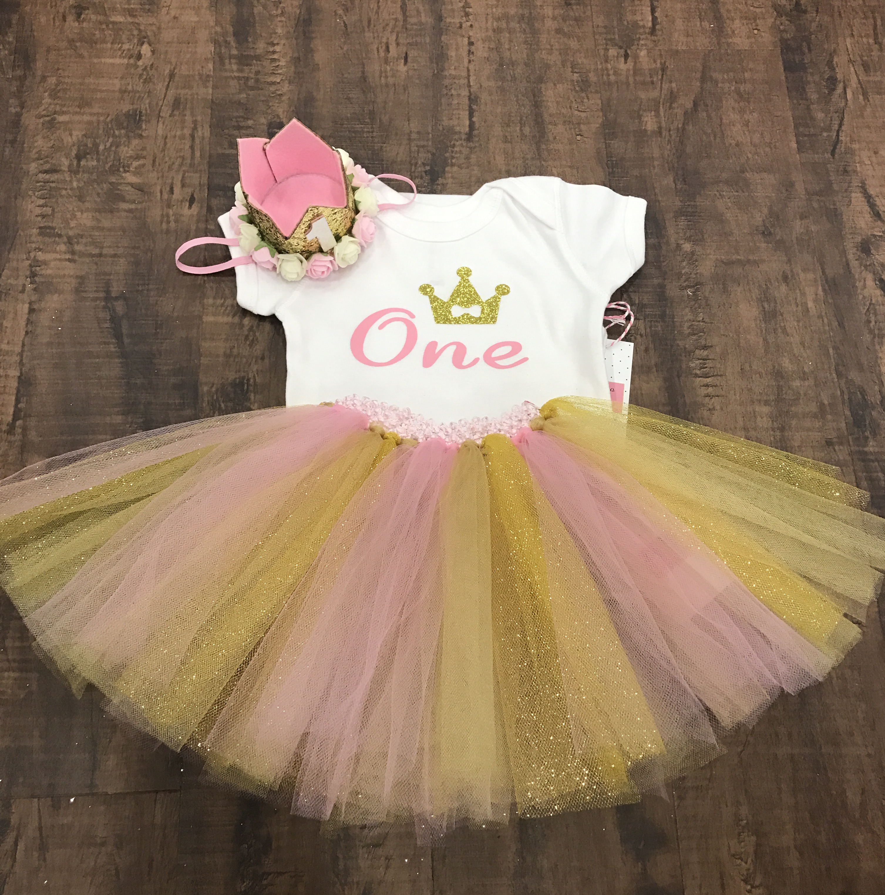 f3445672b First birthday outfit tutu set -12 months on Storenvy