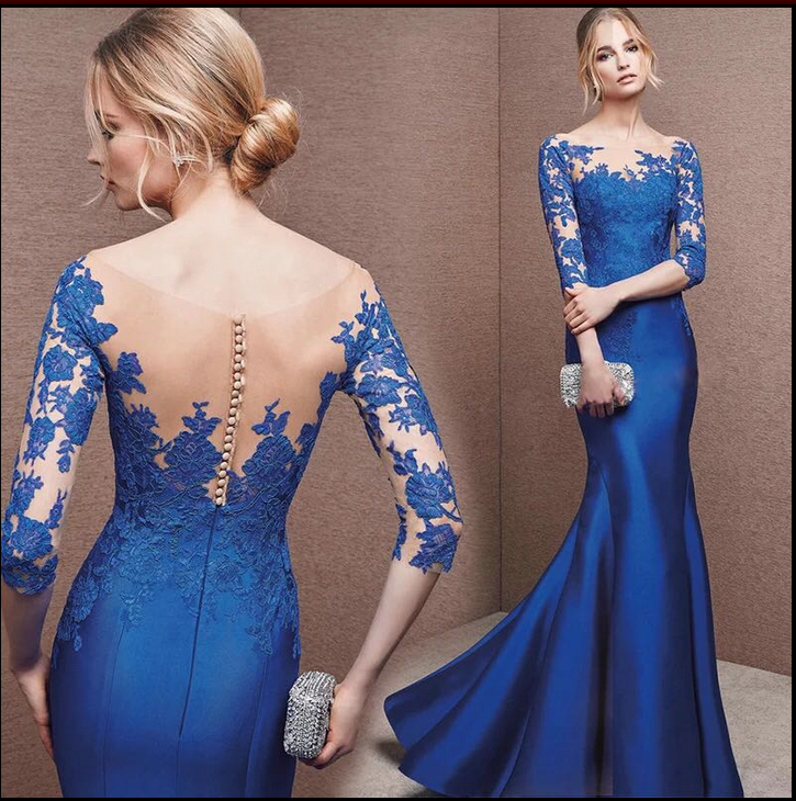 Royal Blue Prom Dresses,Mermaid Prom Dresses,Evening Dresses,Half ...