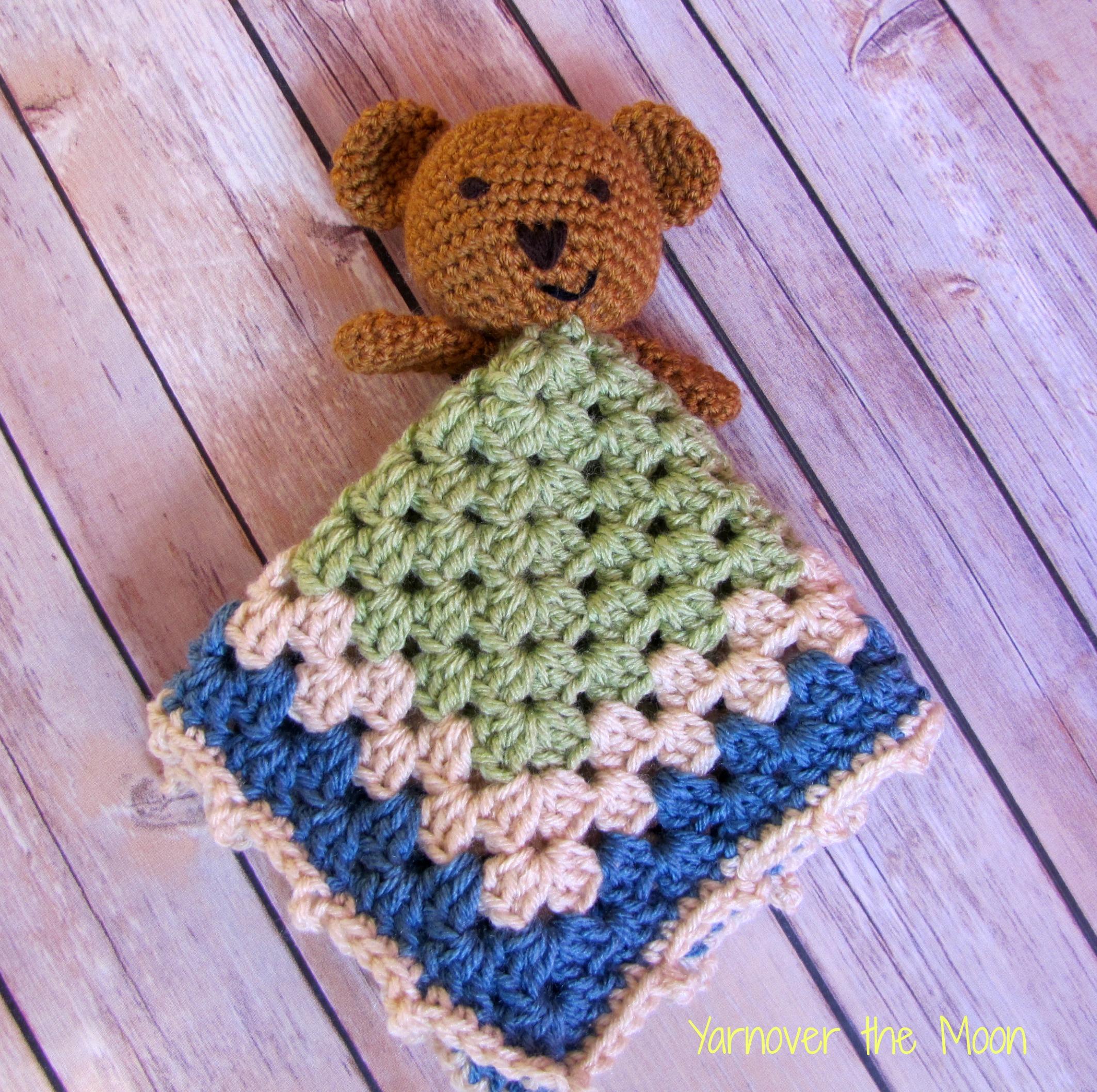 Teddy Bear Lovey Crochet Pattern Security Blanket | Etsy | 2116x2126