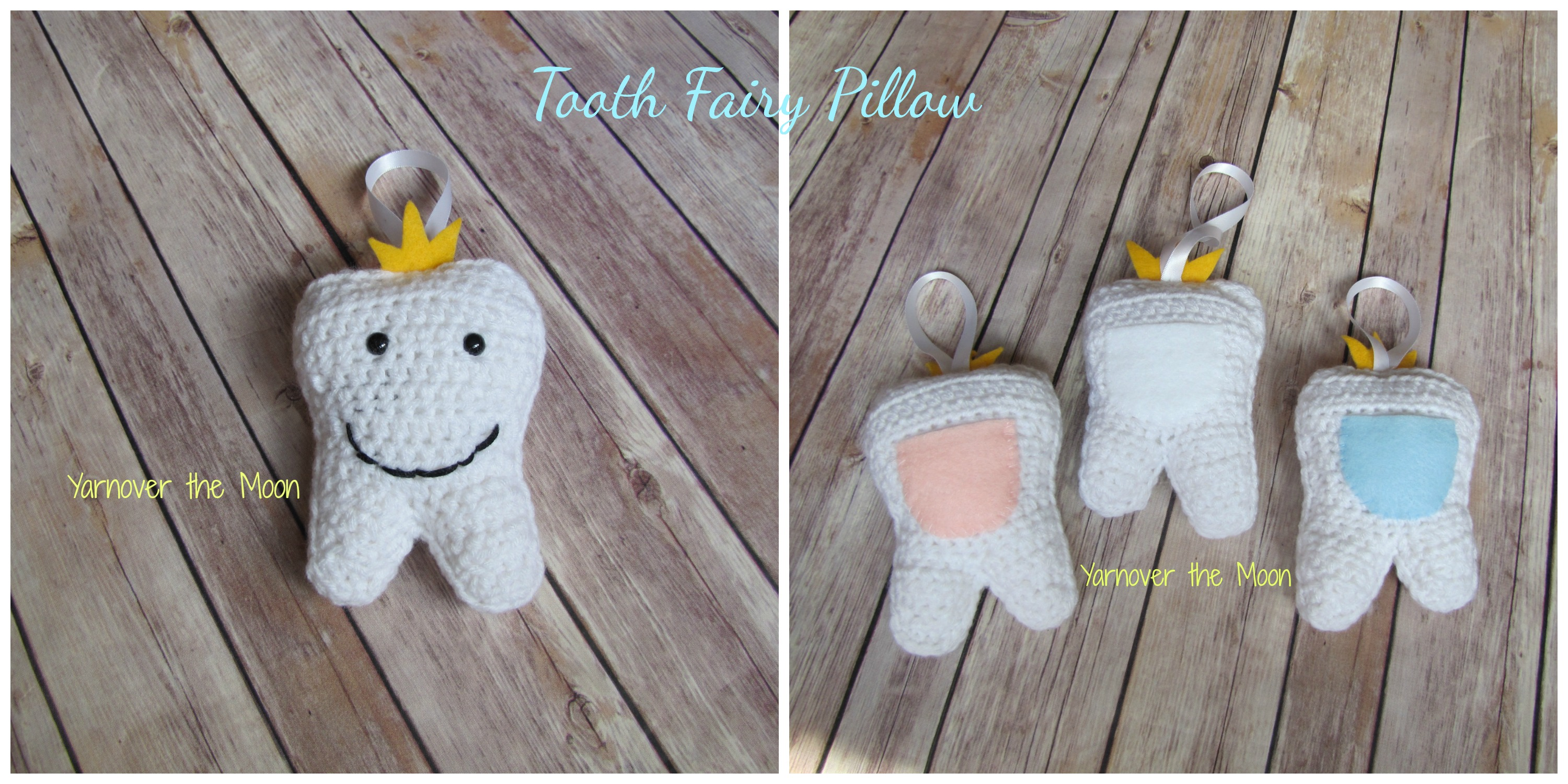 Crochet Tooth Fairy Pouch Pattern Video Tutorial | 1500x3000
