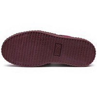 487219c7a89d ... Fashion Shoes by Rihanna Women s Velvet Burgundy Creeper Casual sneaker  - Thumbnail ...