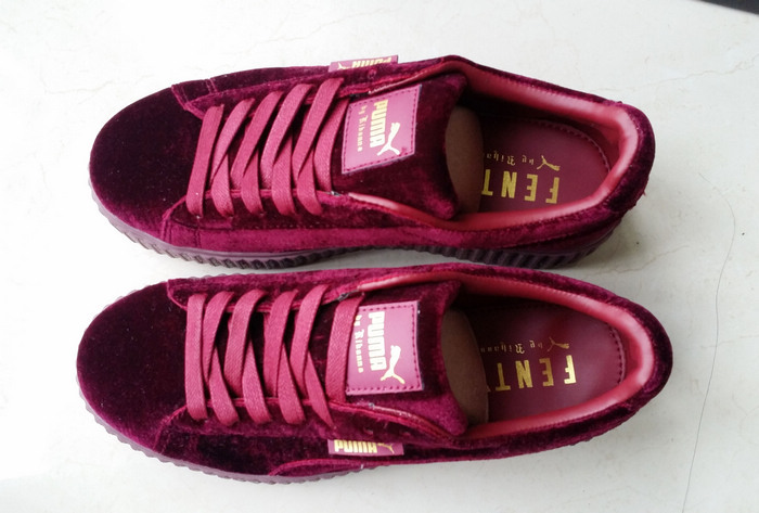 new product 07e91 7a507 Fenty by Rihanna women's Velvet Burgundy Creeper Fashion Casual sneaker  from supplier