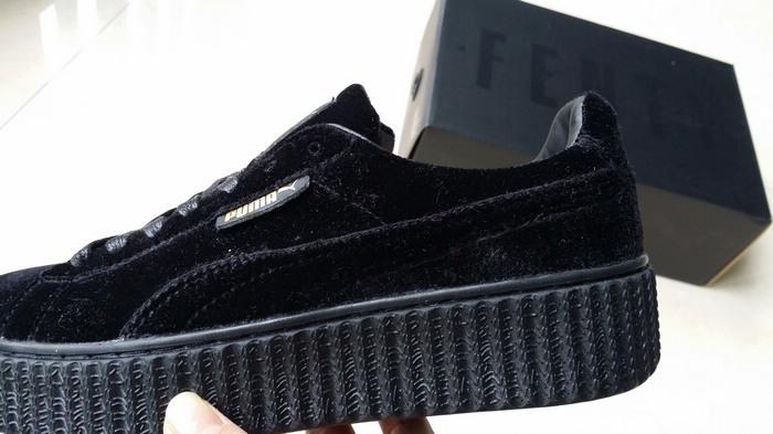d0ce148ab41 ... Fashion Fenty by Rihanna women s Velvet Creeper Casual sneaker black - Thumbnail  4
