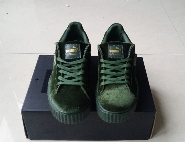 more photos 94746 46805 Fashion Fenty by Rihanna women's/men's Velvet Creeper Casual sneaker green  sold by supplier