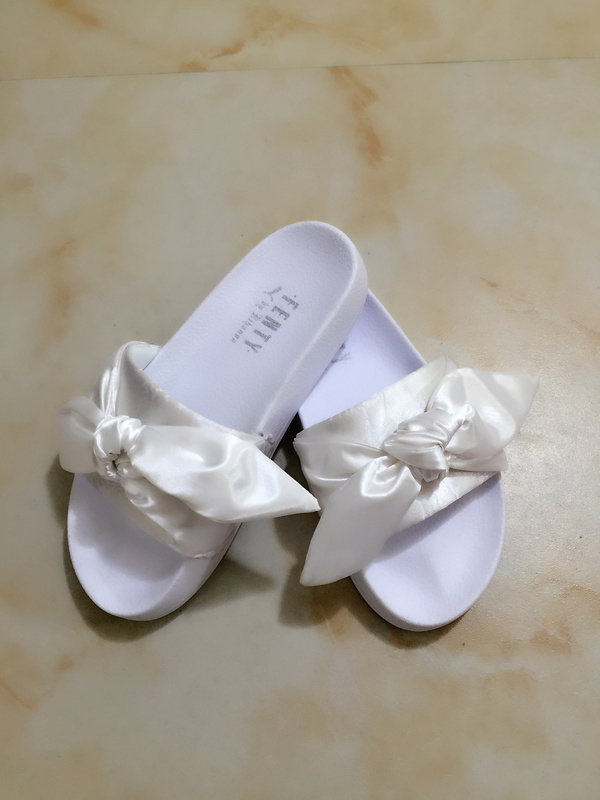 1e44e8d0ed14 Fashion Fenty x Rihanna Bandana Women s Bow Slides white on Storenvy