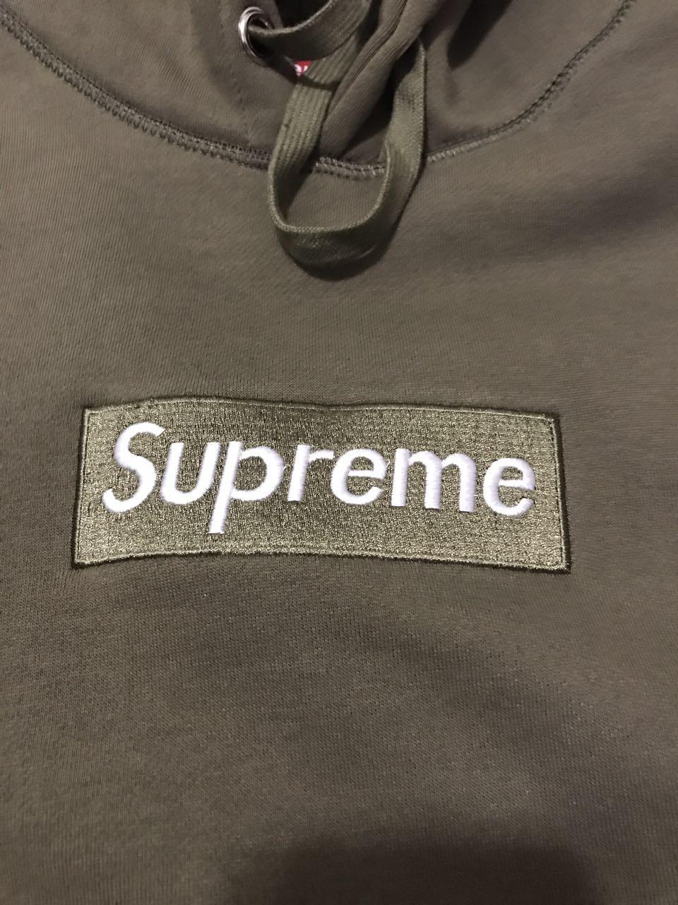 d3db22f33d69 Supreme Box Logo Hoodie Olive Green UA Replica on Storenvy