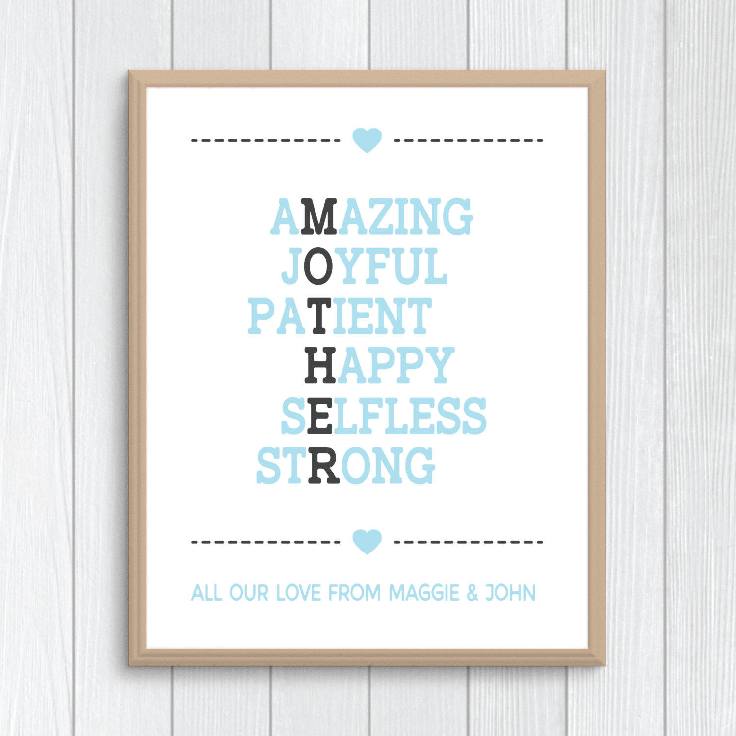 Mother Poem Acrostic Poem Mothers Day Git For Mom Mothers Day Print Best Mom In The World