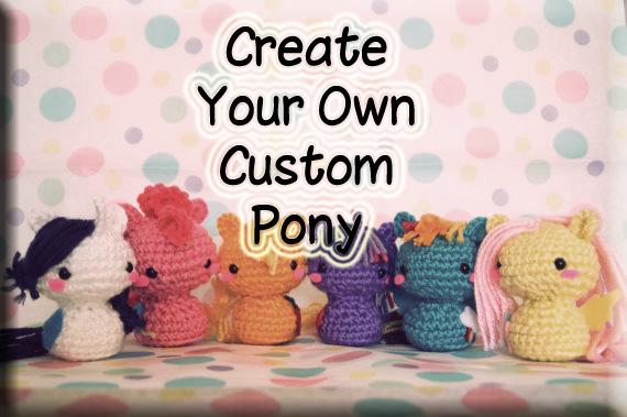 Crochet Custom My Little Pony Amigurumi Toy Millies Crochet House