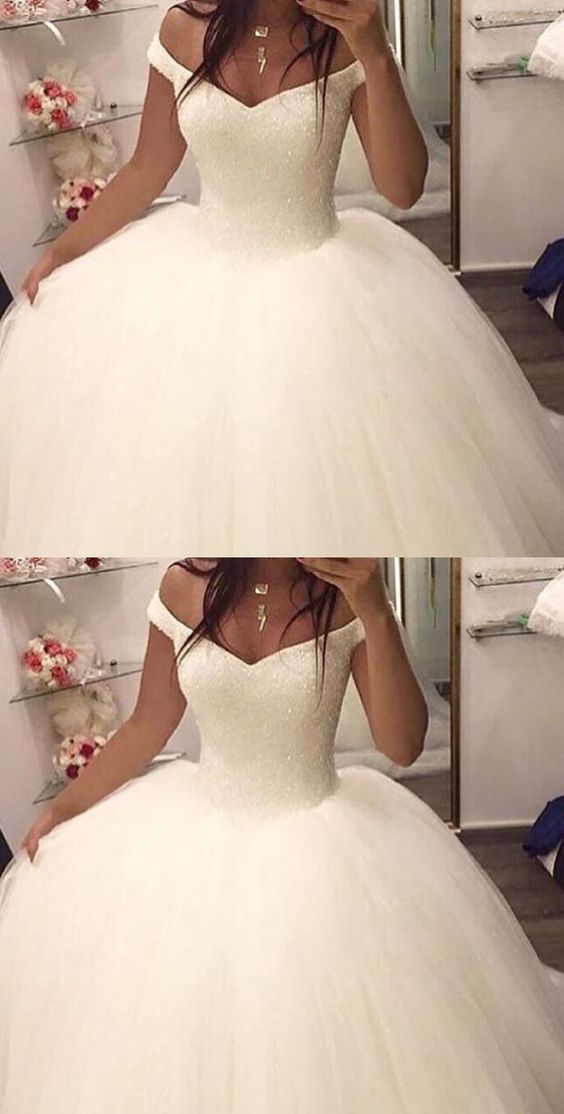 OFF THE SHOULDER BALL GOWN WEDDING DRESSES,BRIDAL GOWN, 2017 BALL ...