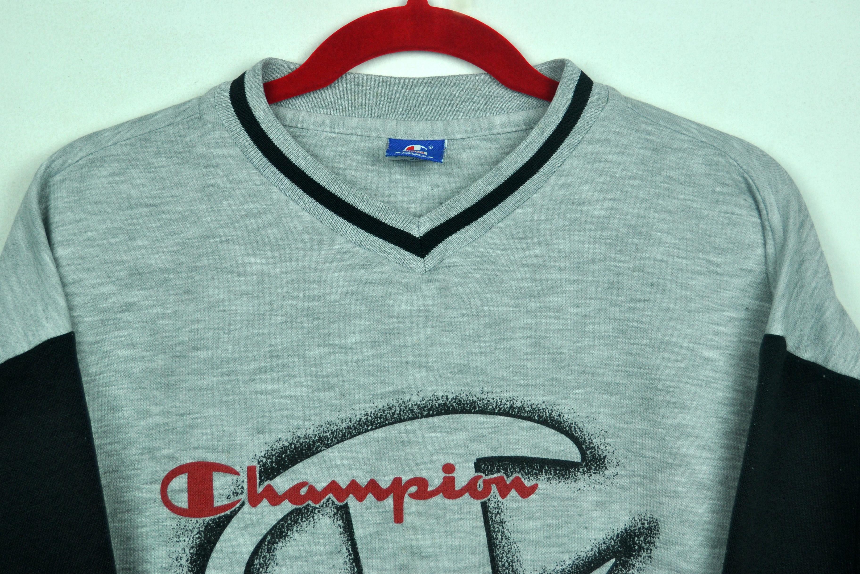 f6040f22 Vintage 90s Champion Big Logo CrewNeck Pullover Sweatshirt ...