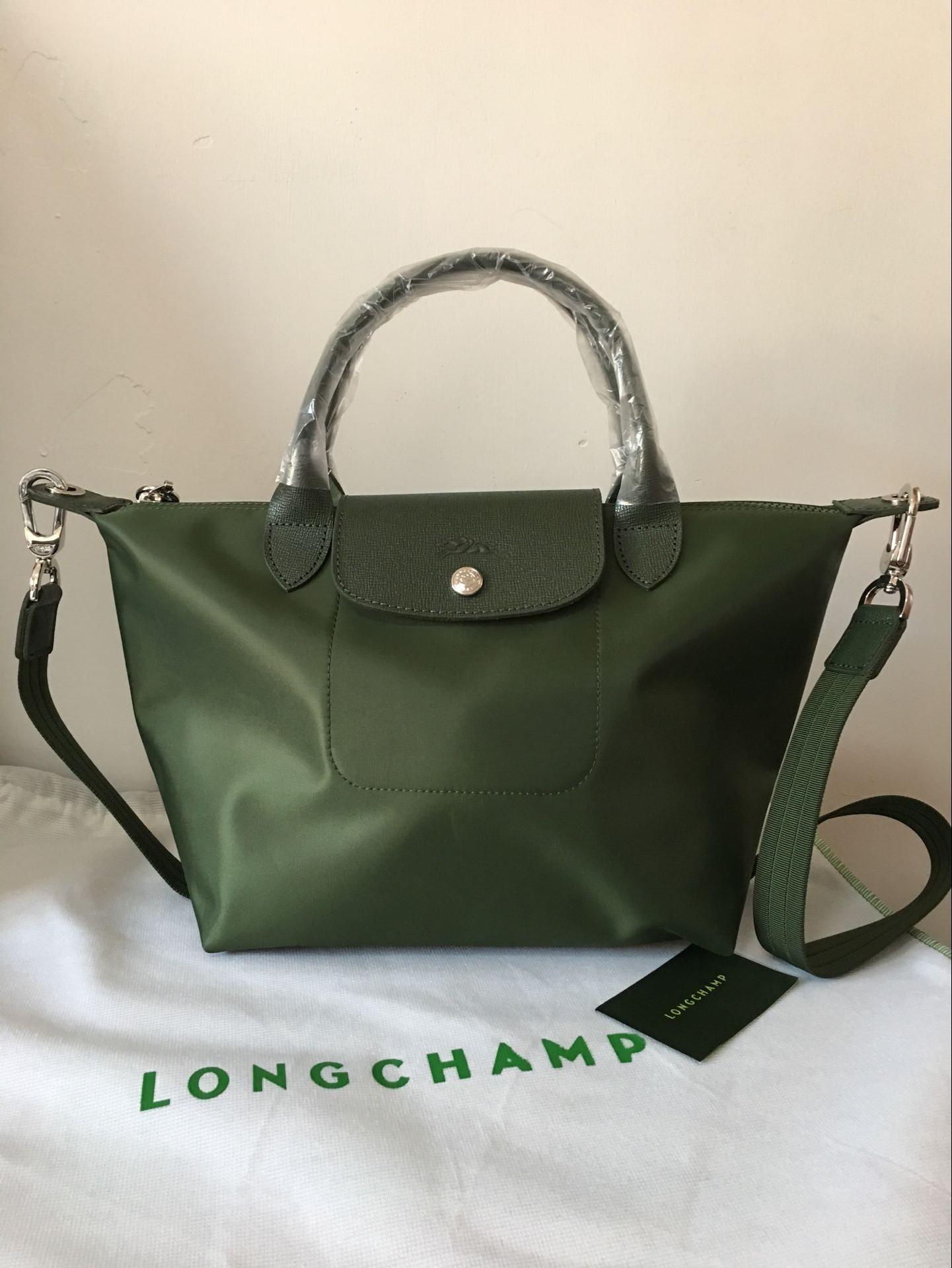 0a8c95e63ae France Made Longchamp Neo Small Handbag Moss Green 1512578749 on ...