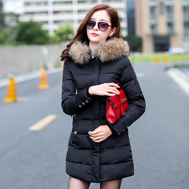 b8b65a738 Coats & Jackets Hooded Winter Snow Jacket Women Fur Collar Winter Coat  Women Long Cotton-padded Coat