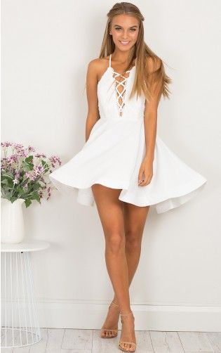 White Homecoming Dressshort Party Dressformal Dresscute Summer
