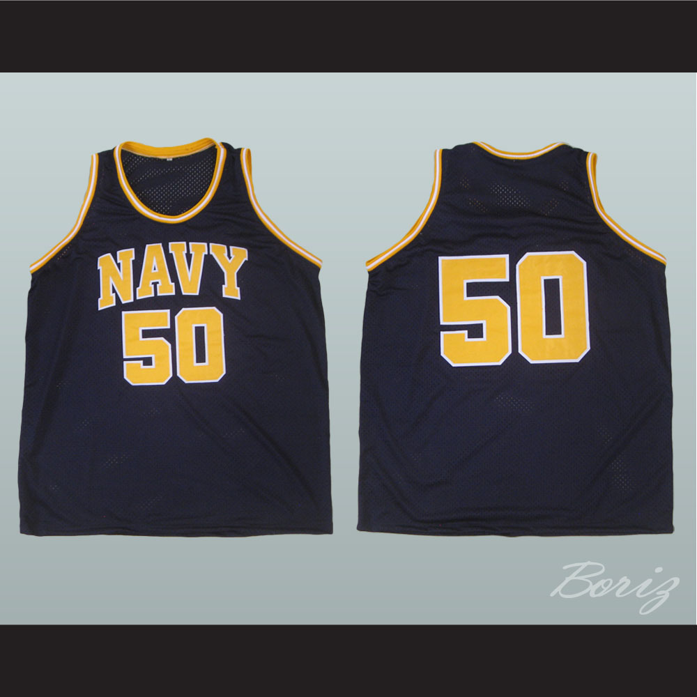 reputable site 11fe7 12245 David Robinson Navy 50 Basketball Jersey Any Name or Number Stitch Sewn New