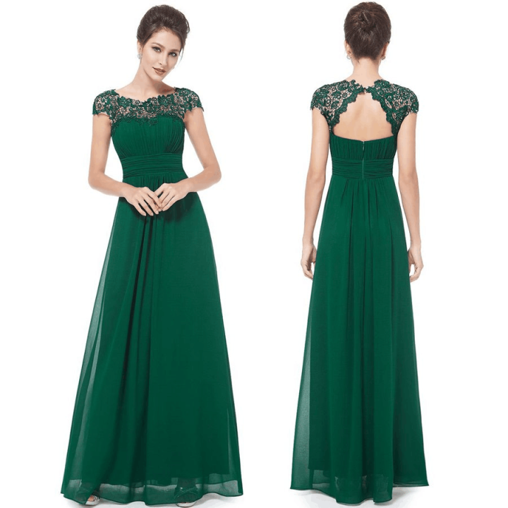Olive Green Dress for Wedding