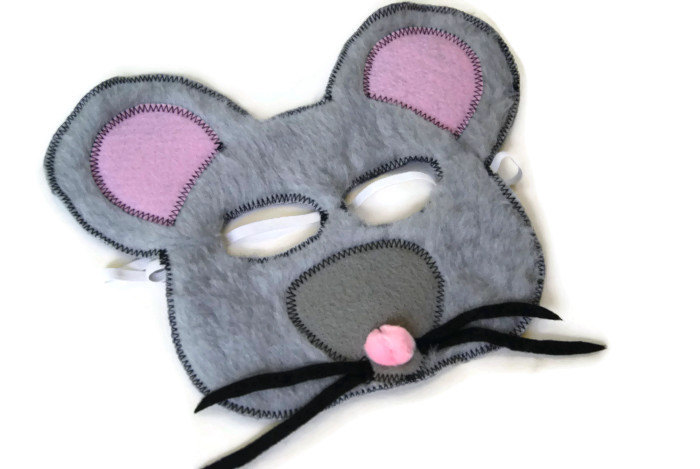 Mouse Mask, Rat Mask, Door Mouse, Dress Up, Farm Animal Birthday Party  Favor, Children's Halloween Costume, Adult Mask sold by fAveritte creations
