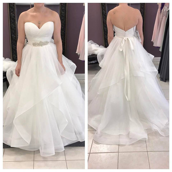 d5495cac9ad3f New Arrival A Line Princess Sweetheart Tiered Skirt Cheap Wedding Dresses  Bridal Gowns With Beaded Sash