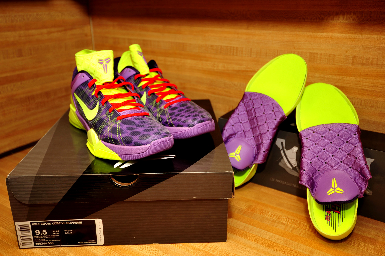 "2b062b255ce9 DS - Nike Zoom Kobe 7 (VII) ""Cheetah"" - Violet Pop/Volt-Ink/Red on ..."